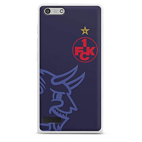 DeinDesign Silikon Hülle kompatibel mit Huawei Ascend P7 Mini Hülle weiß Handyhülle 1. FCK 1. FC Kaiserslautern Logo