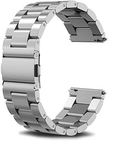 Vivoactive 3 bandas de reloj, 20 mm de liberación rápida de acero inoxidable de repuesto para reloj inteligente Garmin Vivoactive 3/Garmin Forerunner 645 Music/Samsung Galaxy 42 mm