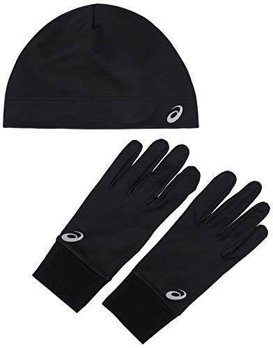 ASICS 3013A035 Set mit Mütze und Handschuhen zum Laufen, Unisex, Erwachsene, Performance Black, M