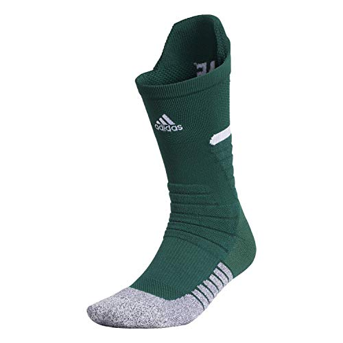 adidas Adizero Fußballsocken, gepolstert, 1 Paar, Unisex, Socken, 5149630B, Team Dunkelgrün/ Weiß, m