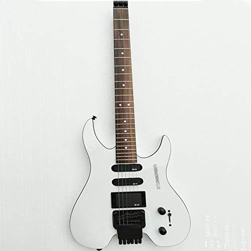 Florwesr Guitarra Eléctrica Bajo Eléctrico Tienda De Instrumentos Personalizados .Headless La Guitarra Eléctrica De La Guitarra Blanca (Color : Guitar)