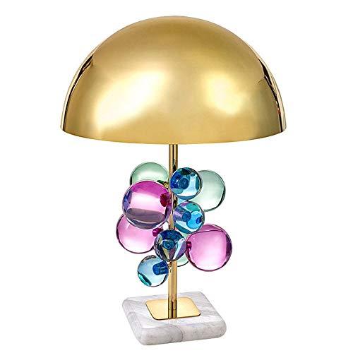 FHUA Lámpara Escritorio Lámpara Moderna Color Creativo Cristal esférico de Alta Gama Alta Sala de Estar Dormitorio lámpara Cristal 1 * E27 (35 * 62cm)