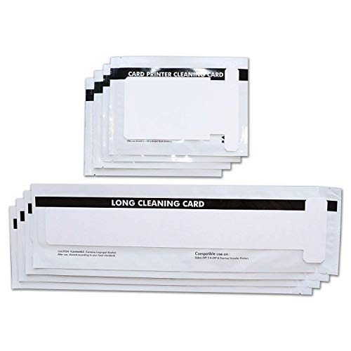 Cleaning Kits for ZXP Series 1 and ZXP Series 3 ID Card Printer Repair,Pack of 4 Short T Cards and 4 Long T Cards CK-105999-301