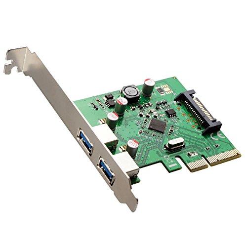 エアリア Straight2-直列- USB3.1 TypeA 2ポート PCI Express x4 接続 補助電源 ロープロファイル対応 ASM1142チップ搭載 SD-PE4U31A-AAL