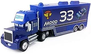 Disney Disney Pixar Cars Mack Uncle No.33 Mood Springs Racer's Truck 1:55 Diecast Toy Car Model Loose Kids Xmas Gift
