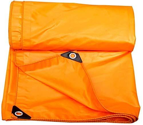 YLCJ dekzeil met metalen ogen Trailer cover voor waterdichte tent voor dak, camping, buiten, terras, 0.32 mm dik, 420 g/m2, oranje (grootte: 3m x 3m), 6m × 7m 2m×2m