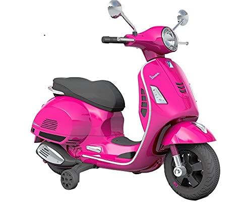 Moto Scooter elettrico per Bambini Piaggio Vespa GTS Super 12V (Rosa)