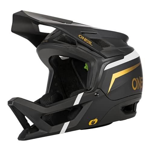 O'NEAL | Casco da Mountain Bike | MTB Downhill | EN1078, molte aperture di ventilazione facilitano la respirazione, IPX ACells | Transition Helmet Flash | Adulto | Nero Bianco Oro | XXL