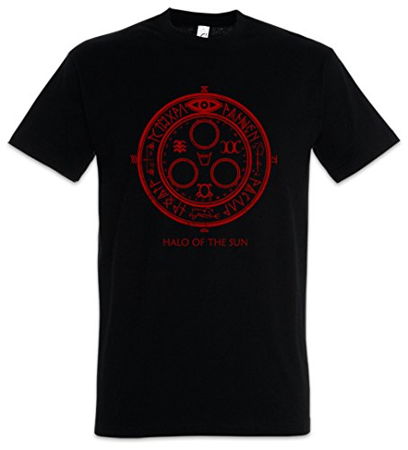 Urban Backwoods Halo of The Sun Logo Herren T-Shirt Schwarz Größe M