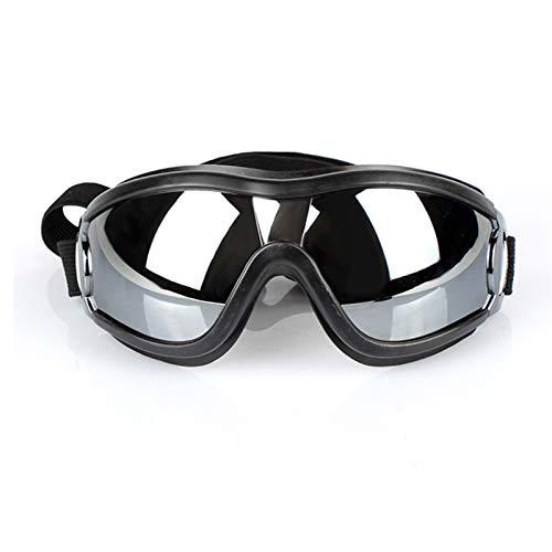 YDL Gafas para Perros De Mascotas Suministros para Perros Gafas Impermeables a Prueba De Viento Protector Solar UV Medio Medio Natación Grande Natación De Esquí Labrador Al Aire Libre