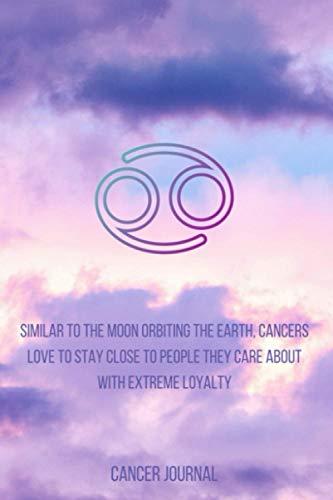 Cancer Journal: Lined Writing Journal (Zodiac Purple Sky Set)