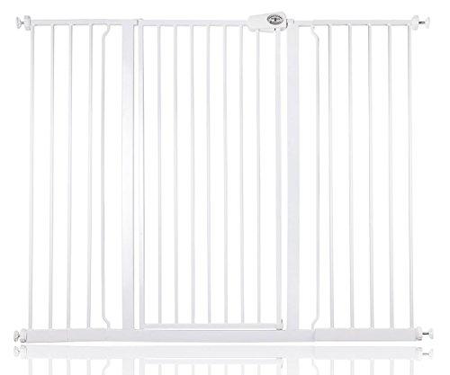 Bettacare barrière d'escalier enfant et animal de compagnie 75cm - 147.8cm (133cm - 141cm , Blanc)