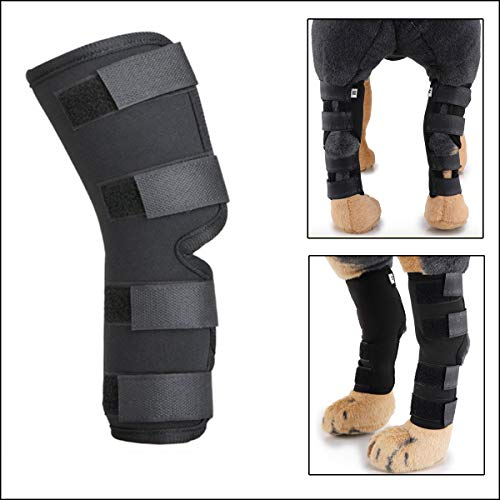 WEDAWN Dog Hock Joint Brace Luxating Patella Knee Brace for Dogs Dog Knee Brace for Torn acl Hind...