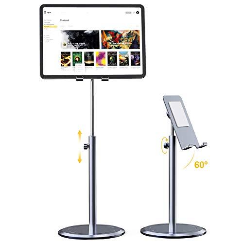 """licheers Tablet Ständer, Aufgerüsteter Stabil Tablet Halterung & Handy Ständer Ganz-Aluminiumlegierung, winkelhöhenverstellbarer Tablet Halter für 4,7\""""-12,9\"""" Handy und Tablets (Grau)"""
