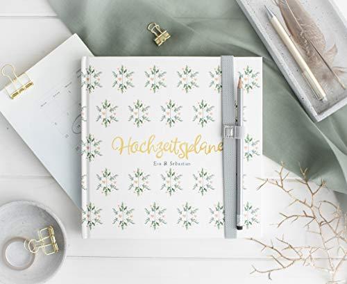 Hochzeitsplaner Hochzeitsorganizer - deutsch - Hochzeitscheckliste - BUCH - Wedding planer PERSONALISIERT Sow in Love inkl. 2020/2021 Wandkalender