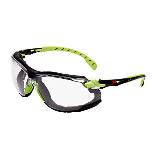 Solus s1201skt gafas de seguridad, lente transparente, antivaho, verde/negro marco ⭐