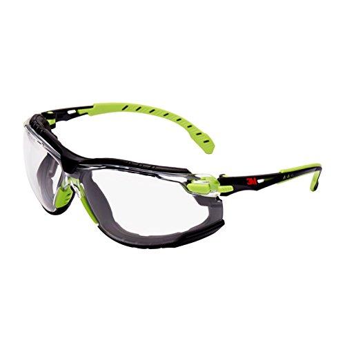3M Solus Safety Glasses, Grün/Schwarz frame, Scotchgard Anti-Fog, Clear Lens, S1201SGAFKT-EU