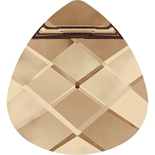 Cristaux de Swarovski 868130 Pendentifs Cristal 6012 MM 15,4X 14,0 Crystal GOL.Shadow, 72 Pièces