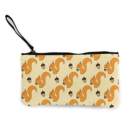 shibeili Nette Eichhörnchen Frauen Mädchen Mode Leinwand Münze Geldbörse Reißverschluss Tasche Brieftasche Make Up Bag