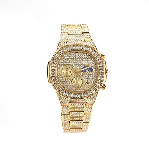 Blue98 Reloj de Lujo para Mujer, Pulsera de Moda de Cuarzo con Calendario, Reloj de Pulsera Resistente al Agua con Sol y Luna 10M
