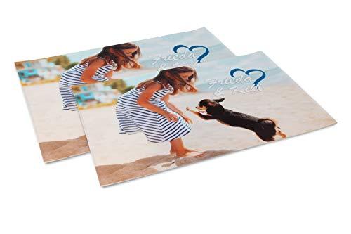 fatfoto Tischset mit eigenem Foto und Text gestalten - Bedruckte Tischsets - personalisiertes Fotogeschenk - Platzset mit Foto (30 x 45 cm 2-er Set)