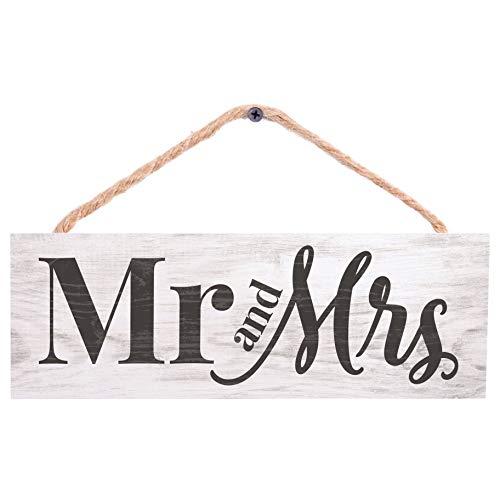 P. Graham Dunn Mr. and Mrs. White 10 x 3.4 Pine Wood Decorative String Sign