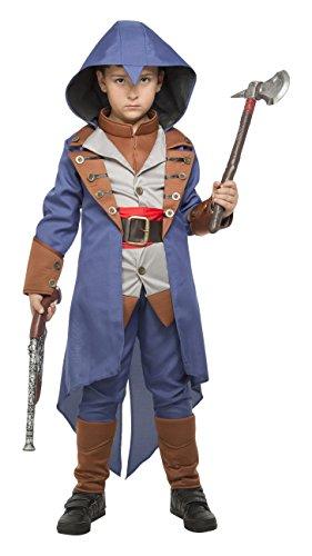 My Other Me Me-203950 Disfraz de asesino para niño, color azul, 5-6 años (Viving Costumes 203950)