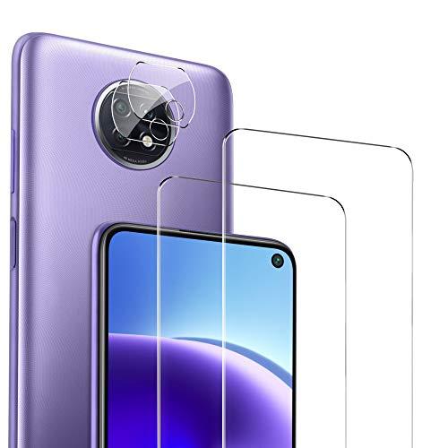GEEMAI Compatibile con Vetro Temperato Xiaomi Redmi Note 9T, 2 Pezzi Vetro Temperato 3 Pezzi Pellicola Fotocamera, Film protettivo ad alta durezza Compatibile con Xiaomi Redmi Note 9T