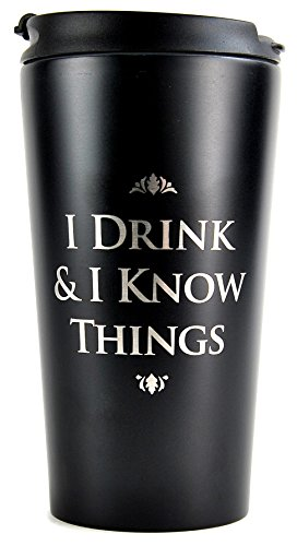 GB Eye MUGTGT01 Reisebecher Game of Thrones I Drink And I Know Things, Keramik, mehrfarbig, Einzigartig