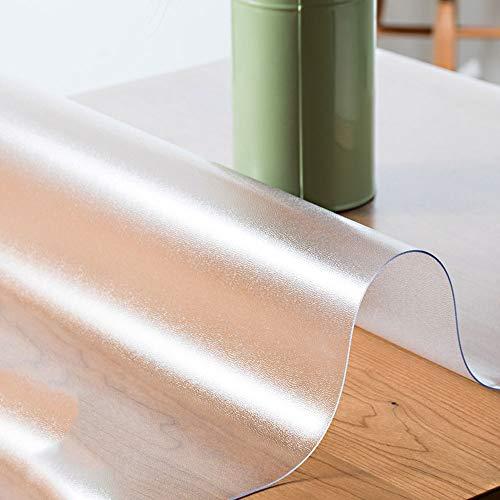 ZA rechthoekig PVC tafelkleed transparant plastic eettafel beschermer tafelkleed bureau mat houten meubels koffie glas zijtafel tafelblad bescherming aanrecht Cover
