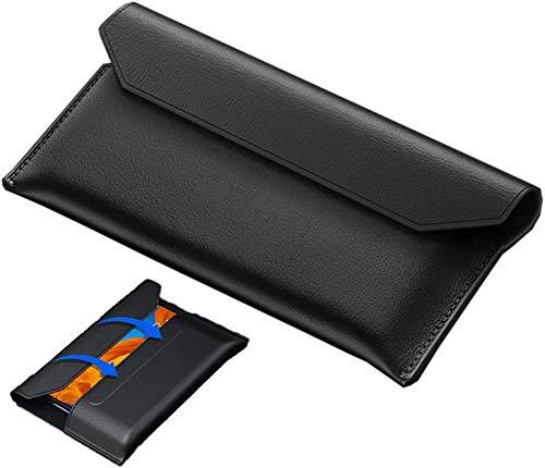 TOPOFU Premium Ledertasche Hülle für Samsung Galaxy Z Fold 2 5G, Magnetische Flip Cover Hülle, Geldbörsen Handyhülle für Samsung Galaxy Z Fold 2 5G - Schwarz