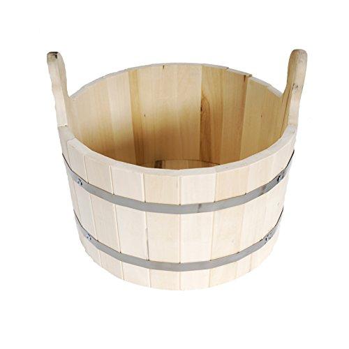 Grand Seau en Bois de Tilleul Naturel - Contenance 15 litres - Pour Sauna ou Bania Russe