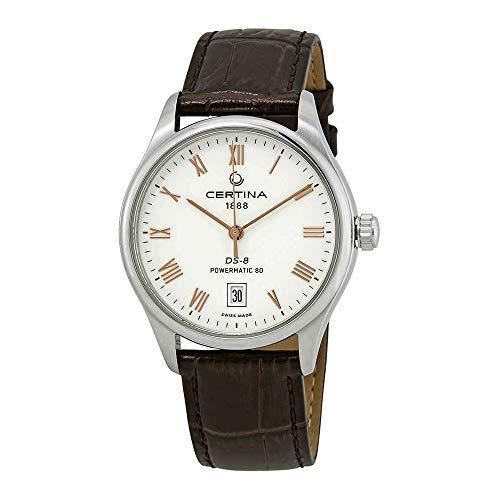 Certina DS-8 C033.407.16.013.00 - Reloj automático para hombre con esfera blanca