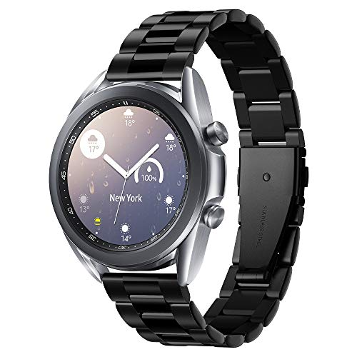 Spigen Modern Fit Compatible con Samsung Galaxy Watch 3 41mm Correa Band (2020) / Galaxy Watch Active 1&2 (2019) / Galaxy Watch 42mm (2018) / Gear S2 Classic, 20mm Smartwatch Band - Negro