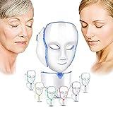 Tratamientos De Fototerapia Para El Acné Mascarilla LED Mascarilla De Fototerapia De 7 Colores Rejuvenecimiento Mascarilla Facial Para Antienvejecimiento,Cicatrices,Pecas Contra El Acné Antiarrugas
