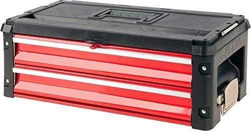 Yato YT-09107 Werkzeugkiste Werkzeugkasten Metall Schwarz, Rot - Werkzeugkisten (Werkzeugkasten,...