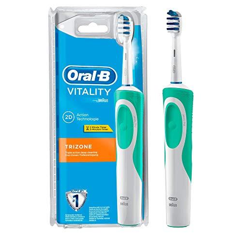 Oral-B Vitality TriZone Brosse à Dents Électrique Rechargeable par Braun, 1 Manche de Brosse à Dents, 1 Brossette TriZone