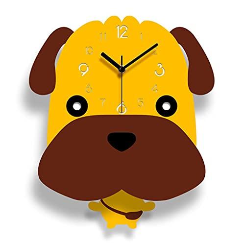 GZQDX Reloj de Pared para habitación de niños, Dormitorio, Reloj silencioso de Dibujos Animados, Aula, Mesa Colgante para Pared, Sala de Estar, Bonito Decorativo