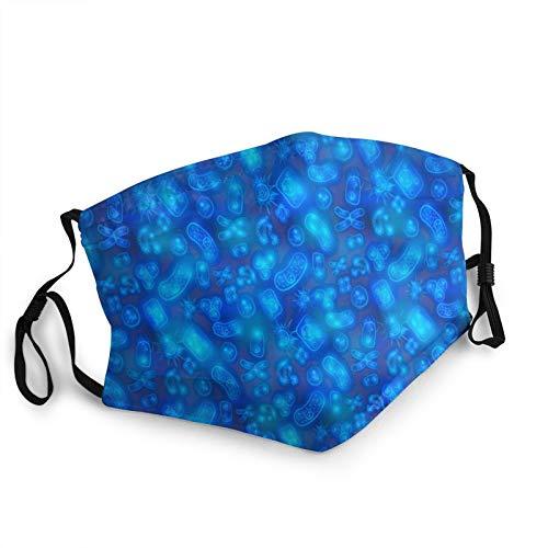 Bright Glowy Biology Cells Bacterias and Virus Face Bandana Adult Face Mask Cloth Breathable,Washable and Reusable Earloop Bandana