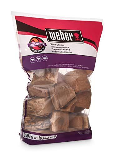 Weber 17150 Mesquite Wood Chunks, 350 cu. in. (0.006 Cubic Meter), 4 lb