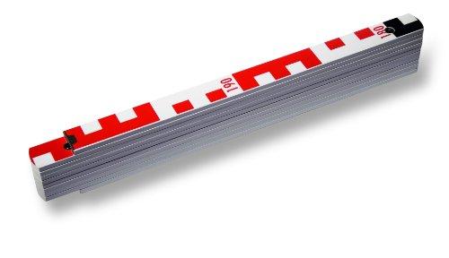 STABILA Holz-Gliedermaßstab Type 1407 GEO, 2 m, weiß, metrische Skala / Geo-Skalierung