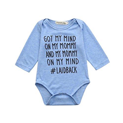 Mamum Bébé Garçon Fille Manches Longues Combinaison Pyjama Vêtements (100(24Mois))