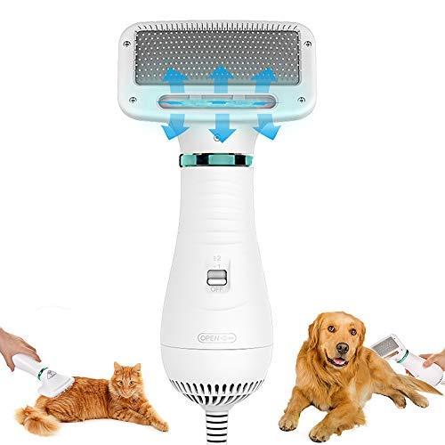 Mcgrady1xm Dog Hair Dryer Brush 2 in 1 Pet Hair Dryer Professional Dog Blower Grooming Dryer Cat...