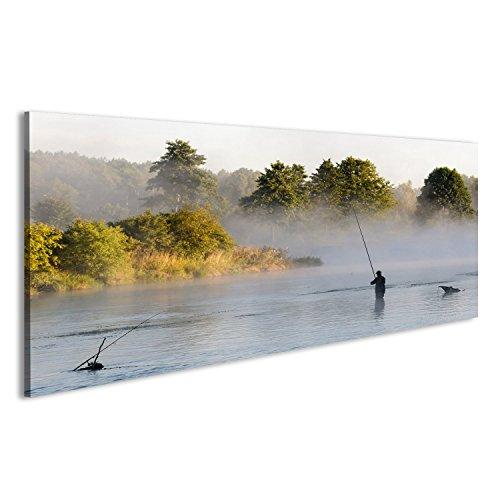 islandburner Bild auf Leinwand Angeln, Angeln in einem See, Naturserie Wandbild, Poster, Leinwandbild FMD