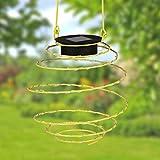 Unbekannt LED Solar-Spirallaterne 12cm Lampion Spirale Solarlampe Hängelaterne Gartendeko (gelb)