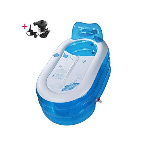 Verdickt Aufblasbare Badewanne Erwachsenen Badewanne Faltbare Bad Barrel Bad Barrel Kunststoff Kinderbadewanne Freistehende Duschwanne Whirlpool Luft Schwimmbad ( Color : Blue )
