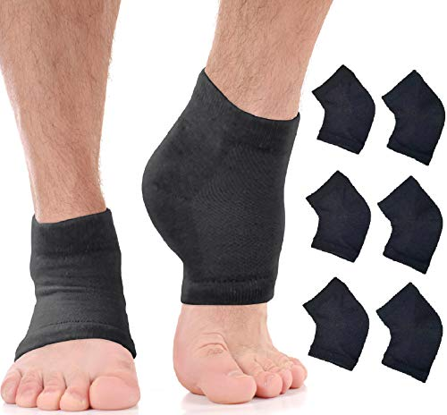 Moisturizing Socks for Mens Cracked Heels - Moisturizer Heel Sleeves to Smooth & Soften Rough...