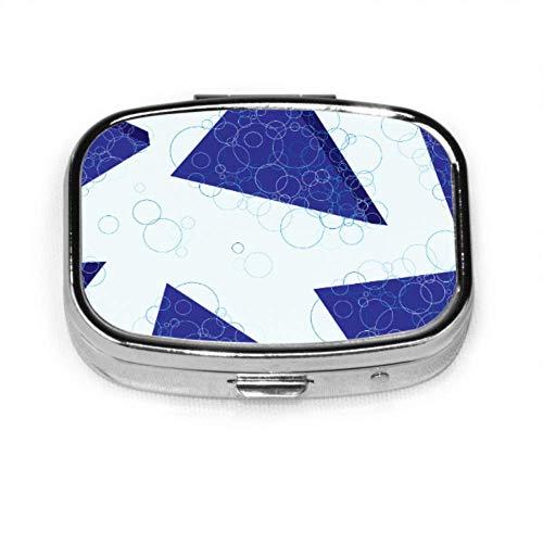 Pastillero Patrón Grande Azul Volumétrico Lindo Pastillero Pastillero Diario Portátil Para Monedero de Bolsillo Maletín Viaje Pastillas Caja