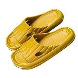URIBAKY - Sandalias para hombre con zapatillas de interior gruesas, zapatillas de mucho, zapatillas para parejas, zapatillas antideslizantes, Amarillo (amarillo), 42 EU