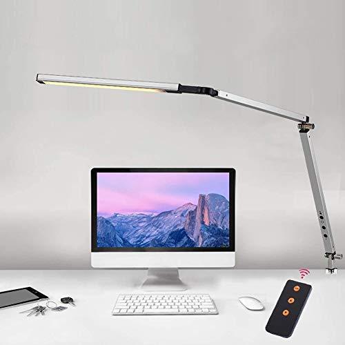 Abrrlo LED Schreibtischlampe,Schwenkarm Architektenlampe Arbeitsleuchte,Berührungssteuerung Büro Tischlampe, Stufenloses Dimmen einstellbare Farbtemperaturen,Augenschutz,8W